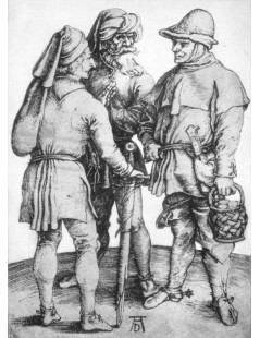 Tytuł: Three Peasants in Conversation, Autor: Albrecht Durer