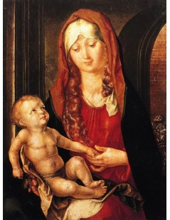 Tytuł: Virgin and Child before an Archway, Autor: Albrecht Durer