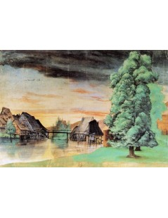 Tytuł: Willow Mill, Autor: Albrecht Durer