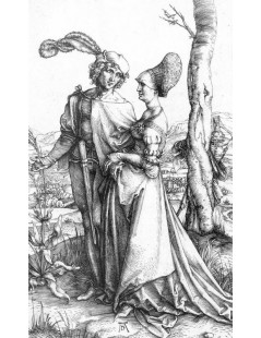 Tytuł: Young Couple Threatened by Death or, the Promenade, Autor: Albrecht Durer