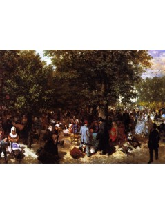 Tytuł: Afternoon in the Tuileries Gardens, Autor: Adolph Menzel