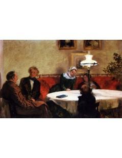 Tytuł: An Evening Together, Autor: Adolph Menzel