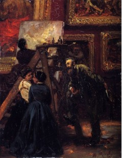 Tytuł: At the Louvre, Autor: Adolph Menzel