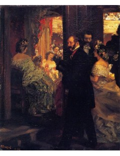 Tytuł: At the Opera, Autor: Adolph Menzel