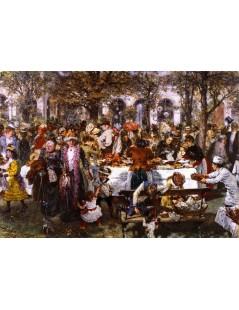 Tytuł: Breakfast Buffet given by a High, Autor: Adolph Menzel