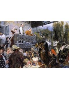Tytuł: Camel Driver at Partenkirchen, Autor: Adolph Menzel