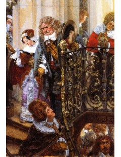 Tytuł: Coming out of Church, Autor: Adolph Menzel