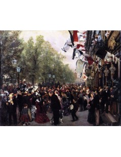 Tytuł: Departure of King William I for the Army, 31 July 1870, Autor: Adolph Menzel