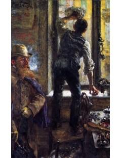 Tytuł: Early Morning in the CafÄ?Ĺ, Autor: Adolph Menzel