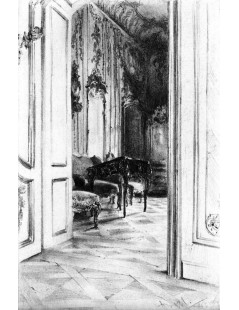 Tytuł: Frederick the Greats Study in the Palace of Potsdam, Autor: Adolph Menzel