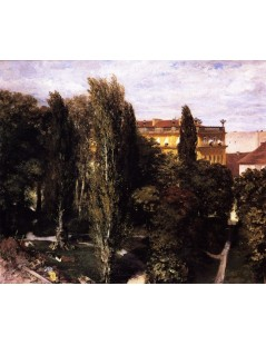 Tytuł: Garden of Prince Alberts Palace, Autor: Adolph Menzel