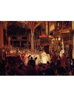 Tytuł: Sketch for The Coronation of King William I at KÄ?śnigsberg, Autor: Adolph Menzel