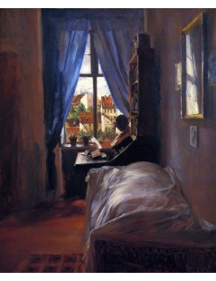 Tytuł: The Artists Bedroom in Ritterstrasse, Autor: Adolph Menzel