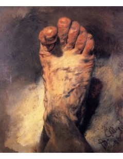 Tytuł: The Artists Foot, Autor: Adolph Menzel