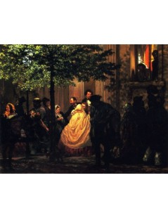 Tytuł: The End of the Evening, Autor: Adolph Menzel