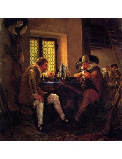 Tytuł: The Game of Chess, Autor: Adolph Menzel