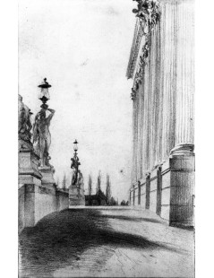 Tytuł: The Green Stairway at the Royal Palace of Potsdam, Autor: Adolph Menzel