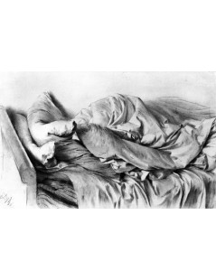 Tytuł: Unmade Bed, Autor: Adolph Menzel