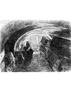 Tytuł: Vault beneath Garrison Church in Berlin, Autor: Adolph Menzel