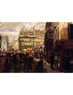 Tytuł: Weekday in Paris, Autor: Adolph Menzel