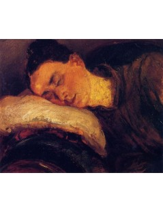 Tytuł: Woman Sleeping, Autor: Adolph Menzel