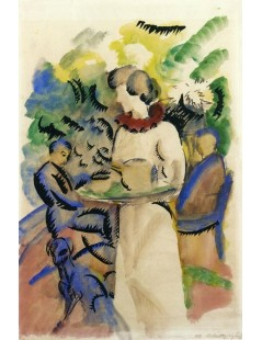 Tytuł: Afternoon in the Garden, Autor: August Macke