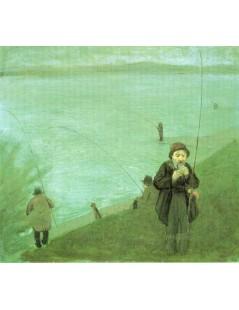 Tytuł: Anglers on the Rhine, Autor: August Macke