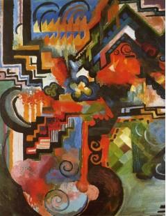 Tytuł: Colored Composition, Autor: August Macke