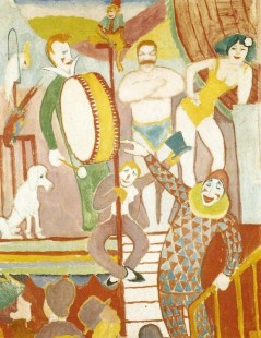 Tytuł: Curcus Picture II Pair of Athletes, Clown and Monkey, Autor: August Macke