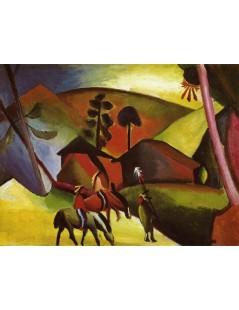 Tytuł: Indians on Horses, Autor: August Macke