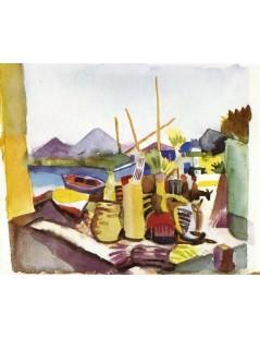 Tytuł: Landscape near Hammamet, Autor: August Macke