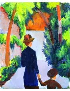 Tytuł: Mother and Child in the Park, Autor: August Macke