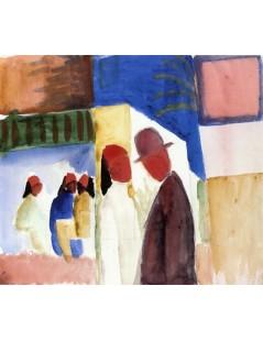 Tytuł: On the Street, Autor: August Macke
