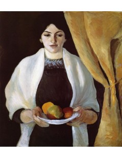 Tytuł: Portrait with Apples The Artists Wife, Autor: August Macke