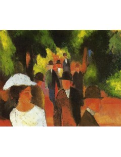 Tytuł: Promenade (with Half Length of Girl in White), Autor: August Macke