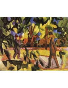 Tytuł: Riders and Strollers in the Avenue, Autor: August Macke