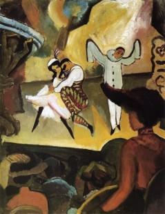Tytuł: Russian Ballet I, Autor: August Macke