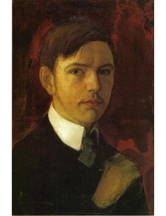 Tytuł: Self Portrait, Autor: August Macke