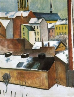 Tytuł: St Marys in the Snow, Autor: August Macke