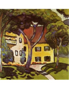 Tytuł: Staudachers House at Tegernsee, Autor: August Macke