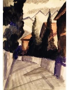 Tytuł: Street in Hilterfingen, Autor: August Macke
