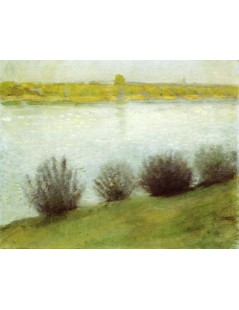 Tytuł: The Rhine near Herzel, Autor: August Macke