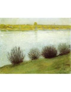 Tytuł: The Rhine near Herzel, Autor: August Macke