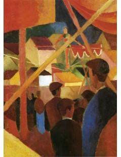 Tytuł: Tightrope Walker, Autor: August Macke