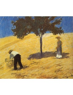 Tytuł: Tree in the Corn Field, Autor: August Macke