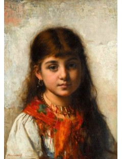Tytuł: Girl with Coral Necklace and Shawl, Autor: Alexei Harlamoff