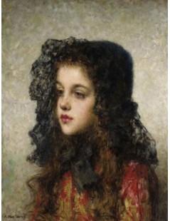 Tytuł: Little Girl with Veil, Autor: Alexei Harlamoff
