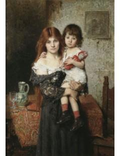 Tytuł: Mother and Daughter, Autor: Alexei Harlamoff