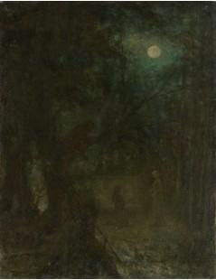 Tytuł: Park in Moonlight,, Autor: Alexei Harlamoff
