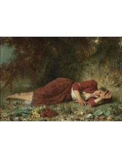 Tytuł: Peasant Girl Resting, Autor: Alexei Harlamoff